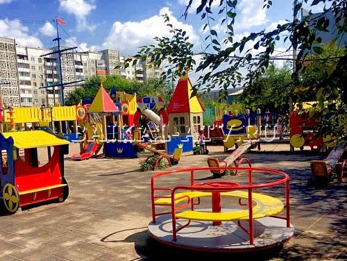 В Улан-Удэ привели в порядок игровую площадку Натальи Водяновой